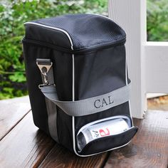 personalized can dispensing tailgate cooler