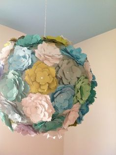 DIY Paper flower lantern.