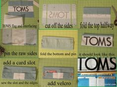 How to make a TOMS flag wallet