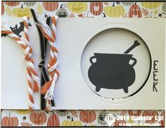 Stampin Up Tee-hee-hee witches Halloween stamp set mixes with Motley Monsters designer series paper. by angela waters