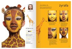 "Page from a colorful book about facepainting""Malujemy świat"" www.szkolamakijazu.com"