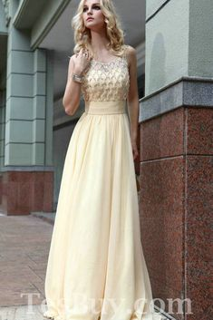 Modest Ruched Elegant Floor Length Rhinestone Fashion Champagne Prom Dress,Modest Ruched Elegant Floor Length Rhinestone Fashion Champagne P...