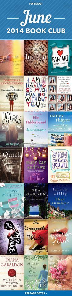 Wooo new summer books!!  June's Hot New Books Make Perfect Beach Reads