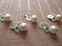 Cute bridesmaid necklaces