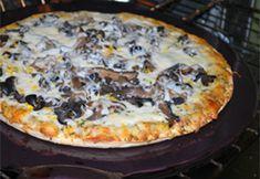Mushroom Olive Pizza  recipe