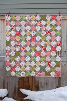 snowball baby quilt