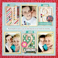 #papercraft #Scrapbook #layout.  Scrapbook  Cards Today - Project: Trend - 1-2-3 Amazing by Vicki Boutin