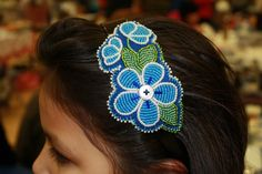 Beaded flower headband