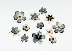 Shrink Plastic Flowers and Head Pins