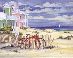 Beach Cruiser Cottage I Fine-Art Print by Paul Brent at FulcrumGallery.com