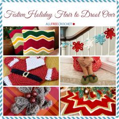 To get ready for the joyous festivities let's see what kind of holiday flair you can work up. With all the crochet patterns to choose from and all the colorful yarns to pick out, your options should be endless. Whether you're working up a scarf, an afghan to wrap in, a fun hat to keep warm in or a brooch to flaunt you'll find something fabulous in this collection.