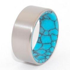 Turquoise Wedding Ring