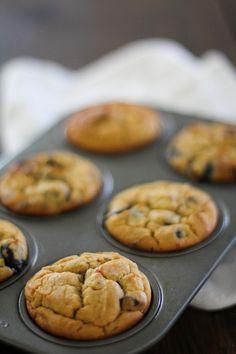 Gluten Free Blueberry Chocolate Chunk Muffins   http://www.theroastedroot.net #glutenfree