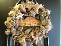 Embellished Camo Wreath. $60.00, via Etsy.
