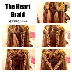 Step by Step Heart Braid