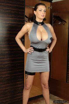 Popular famous Polish busty model Ewa Sonnet has released her official website