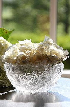 Waterford Monique Lhuillier Sunday Rose Bridal Bowl - Crystal Classics