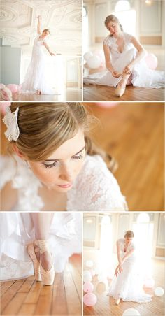 ballet wedding ideas ~ I may have to drag my pointe shoes along to my bridal portraits ;) @adrikeyes1