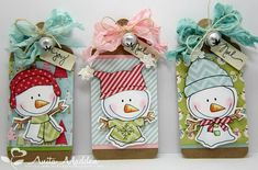 Snowmen Tags by Zacksmeema - Cards and Paper Crafts at Splitcoaststampers