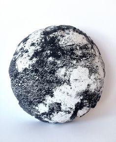 Natural Full Moon Pillow 22 inch round luna hand by alittlelark, $48.00