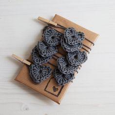 custom crocheted heart garland