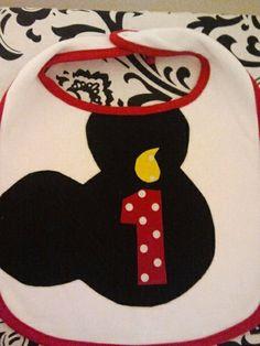 Mickey Mouse Clubhouse Birthday  Matching Bib by designsbyshine, $10.00