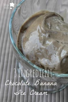 3 Ingredient #Chocolate Banana Ice Cream Recipe -- a healthier alternative to regular ice cream! Yum!