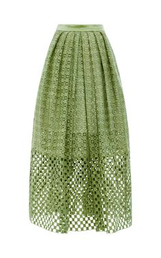 Sonoran Cotton-Eyelet Skirt by Tibi - Moda Operandi