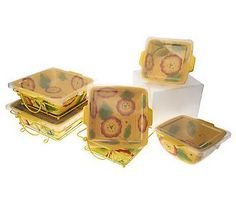Temp-tations bakeware Poppy Passion design in Yellow