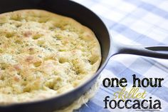 One hour skillet foccacia by jasnicmommy, via Flickr