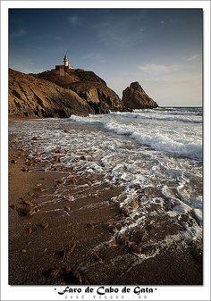Cabo de Gata lighthouse, Almeria, Spain