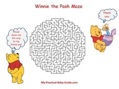 #Free #Printable #Winnie the #Pooh #Baby #Shower #Game. Download this free printable game for your personal use.