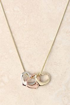 Tiffany Style Heart Necklace In Multicolor.$15.53