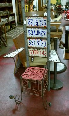License plate chair