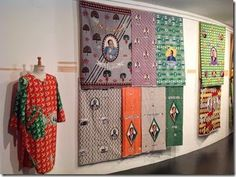 images from the textile event in nyc on wax cloth seen via @adire5  thanks Duncan! http://adireafricantextiles.blogspot.co.uk/2014/07/exhibition-de-vie-vie-en-couleurs-at.html?m=1