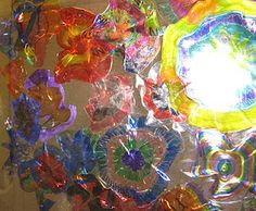 plate art, plastic plate, middleschool, middle school art, plate crafts, lesson plans, school art projects, dale chihuli, dale chihuly