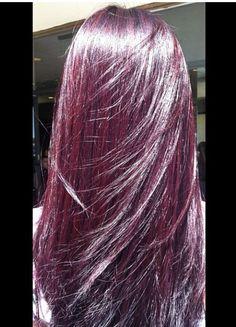 redish purple highlights