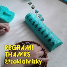 Thanks @zakiahrizky for the regram!  Great idea!  Insert straw pieces into a foam pool noodle and balance marbles on top.  Great for fine motor work to accompany counting, spelling or any number of ideas!  How might YOU use this activity??  - - click on pin for more!    - Like our instagram posts?  Please follow us there at instagram.com/pediastaff