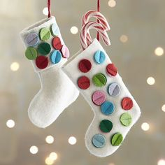 Stocking Ornaments - love the idea of putting little candies or gifts in them