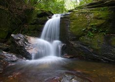 The waterfalls in Helen, GA
