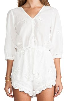 Spell & The Gypsy Collective Indian Summer Playsuit in White {love this romper}