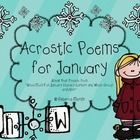 """Your students will love writing acrostic poem with this freebie! This a sneak peek freebie for my """"Snow Much Fun- January Literacy Centers and Whol..."""
