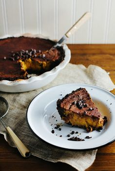 Chocolate Pumpkin Pie /