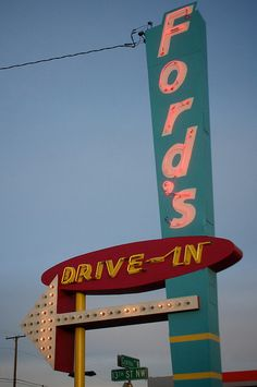 Ford's Drive-In....Classic drive-in burger joint .... Great Falls, Montana.