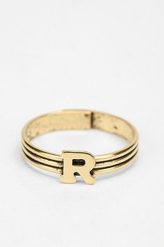 Urban Outfitters  Stackable Initial Ring -....I need two G's please