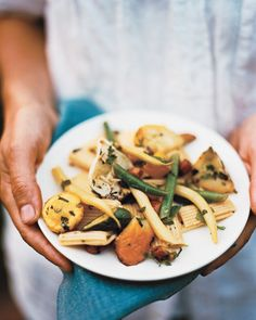 Pasta with Summer Squashes, Herbs, and Honey - Martha Stewart Recipes
