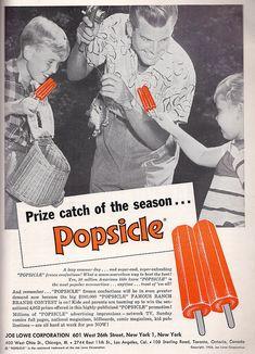 Popsicles! #vintage ad #1950s