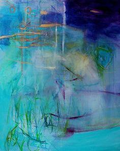 """A Soft Season"" Abstract Painting  Kerri Blackman"