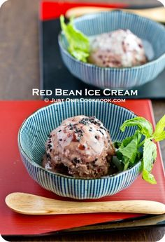 Adzuki bean ice cream