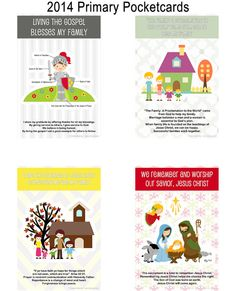 """Primary Pocketcards 2014 - Families Are Forever - all are 3""""x4.5"""""""